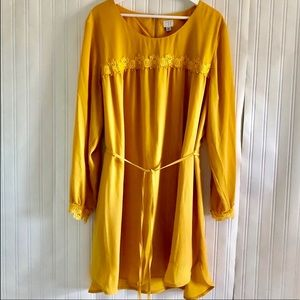 A NEW DAY Yellow lightweight keyhole dress in XXL